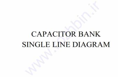 single line.capacitor bank